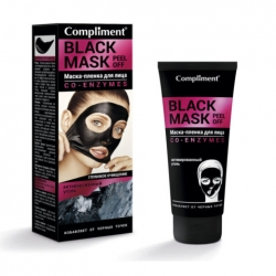 Маска-пленка для лица BLACK MASK CO-ENZYMES  80 мл COMPLIMENT