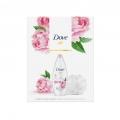 """Набор подарочный Dove """"Сливочная ваниль и пион"""" (гель для душа, 250 мл + мочалка)"""