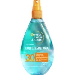 """Garnier Ambre Solaire Солнцезащитный спрей для тела """"Солнечная вода"""", освежающий, SPF 30, 150 мл"""