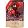 """Крем-гель для душа """"Chocolate & Strawberry"""" Дой-пак """"Fresh Juice"""", 200 мл косметика Эльфа"""