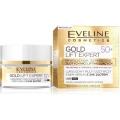 Эксклюзивный  мультипитательный крем-сыворотка с 24к золотом 50+ серии gold lift expert, 50мл косметика Eveline