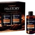 """Подарочный набор для мужчин """"COMPLIMENT HIS STORY"""" №998 leather (шампунь 320 мл. + гель для душа 320 мл.)"""