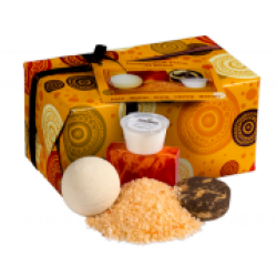 """Женский подарочный набор """"Ла-Манш"""" (бур.шар, глиц.мыло, соль, крем для рук) Кафе Красоты (арт.0769)"""