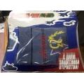 Подарочный набор для мужчины на 23 февраля полотенце в картонной коробке (арт.071-5)