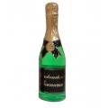 """Гель для душа шампанское в бутылке шампанского зеленая """"Прикосновение нежности"""" Галант косметик 550 мл"""