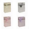 Подарочный пакет-сумка с бантом средний Сумка ламиниров ЛЕДИ (микс) (арт.2221154EA)