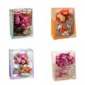 """Подарочный пакет-сумка большой матовый ламин.микс """"Цветы"""" (арт.249626C)"""