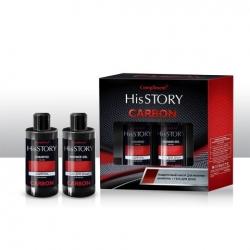 Мужской подарочный набор  №1430 Compliment His Story Carbon (шампунь 320 мл + гель для душа 320 мл)