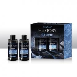 Мужской подарочный набор  №1431 Compliment His Story Stone (шампунь 320 мл + гель для душа 320 мл)