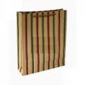 Подарочный пакет-сумка большой крафт с золотой полоской (арт.2644000451A)