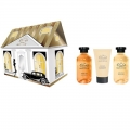Парфюмерно-косметический подарочный набор NP-1805 Домик Liss Kroully Skin juice Гель для душа 270 мл + Пена для ванн 270 мл + Spa-маска для рук 75 мл (арт.A_43499)