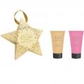 Новогодний подарочный набор парфюмерно-косметический Звезда MO-1801 Liss Kroully Skin juice SPA-маска для рук 75 мл + крем для рук питательный 75 мл (арт.A_43490)