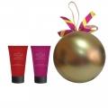 Новогодний подарочный набор парфюмерно-косметический NY-1808 Шар Liss Kroully Skin juice Крем для рук питательный 75 мл + Крем для рук увлажняющий 75 мл (арт.A_43487)