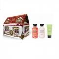 Новогодний подарочный набор набор Домик NY-1803 Лосьон для тела 270 мл + Пена для ванн 270 мл + Крем для рук 75 мл Liss Kroully Skin juice (арт.A_43483)