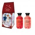 Новогодний подарочный набор набор NY-1802 Гель для душа увлажняющий 270мл + Пена для ванн восстанавливающая 270мл Liss Kroully Skin juice (арт.A_43482)