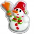 Новогоднее подарочное глицериновое фигурное мыло 27M Снеговик 80 гр (арт.A42909)