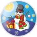 Гель-пена для душа Снеговик 60 мл с ароматом жевательной резинки МГ16 (арт.A42894)