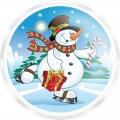 Гель-пена для душа МГ54 Снеговик 60 мл с ароматом жевательной резинки  (арт.A42878)