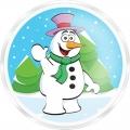 Гель-пена для душа Снеговик 60 мл с ароматом жевательной резинки МГ53 (арт.A42877)