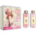 Женский подарочный набор French Rose Liss Kroully Французская роза:  крем-гель для душа 250 мл,пена для ванн 250 мл (арт.93801)