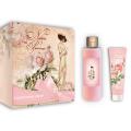 Женский подарочный набор French Rose Liss Kroully Французская роза:крем-гель для душа 250 мл, крем для рук 100 мл (арт.93804)