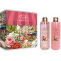 Женский подарочный набор French Rose Liss Kroully Французская роза: шампунь 260 мл, пена для ванн 260 мл (арт.04023)