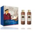 Мужской подарочный набор skin juice LISS KROULLY ENERGY FRESH FOR MEN (пена для ванн Cool Green 250 мл+гель для душа Energy Fresh 250 мл) (арт.41338)