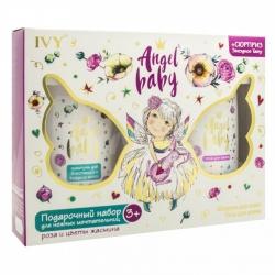 Детский подарочный набор для девочек №1190 Для нежных мечтательниц (шампунь + пена д/ванн + наклейка-переводилка)