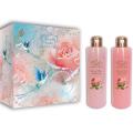 Женский подарочный набор French Rose Liss Kroully Французская роза: гель для душа 260 мл, пена для ванн 260 мл (арт.04022)