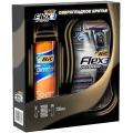 """Подарочный набор для мужчин BIC: Бритва """" Flex3 Hybrid """"+ 4 кассеты + Пена для бритья 250 мл"""