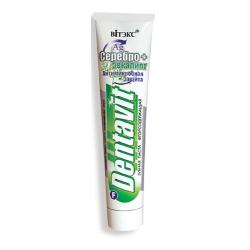 Зубная паста фторосодержащая Dentavit антимикробная Серебро + Эвкалипт 160гр. Витекс