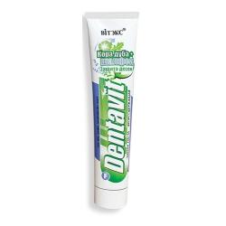 Зубная паста фторосодержащая Dentavit защита десен Кора дуба + Шалфей 160 гр. Витекс