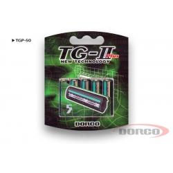 Сменные кассеты с  двумя лезвиями в упаковке 5 шт DORCO TG-II Plus
