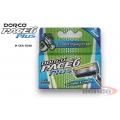 Сменные кассеты с шестью лезвиями и триммером в упаковке 5 шт   DORCO PACE6 Plus