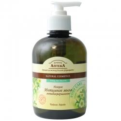 Нежное жидкое мыло для интимной гигиены чайное дерево антибактериальное 370мл. Зеленая аптека косметика Эльфа