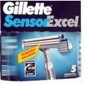 Кассеты Gillette SENSOR EXCEL для мужчин 5шт. Procter&Gamble