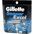 Сменные кассеты Gillette Sensor Excel для мужчин 10 шт в упаковке